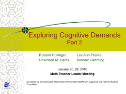 Cognitive Demand - University of