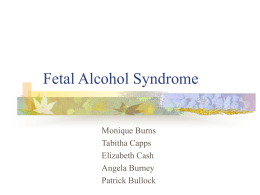 Fetal Alcohol Syndrome - People Server at UNCW