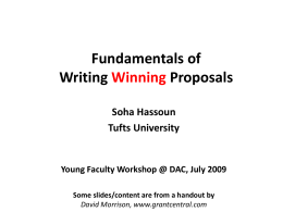 Writing Winning Grants - University of Pittsburgh