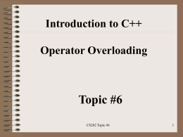 Introduction to C++ Operator Overloading