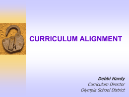 CURRICULUM ALIGNMENT: A HANDS