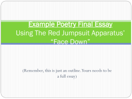 Example Poetry Final Essay