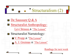 Structuralism(2)
