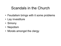 Scandals in the Church - Newark Catholic High