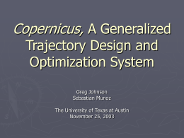 An Architecture for Generalized Trajectory Design