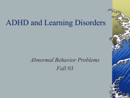 Learning Disorders - University of Texas at Austin