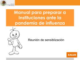 Preparación ante una pandemia de influenza