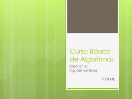 Curso Básico de Algoritmos