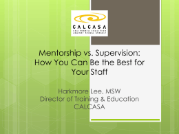 Mentorship vs. Supervision: How You Can Be the