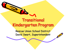 Transitional Kindergarten Program