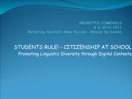 STUDENTS RULE! - CITIZENSHIP AT SCHOOL – Promoting