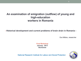 An examination of emigration (outflow) of young