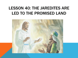 Lesson 38: Peace among the Nephites