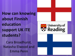 How can knowing about Finnish education support UK