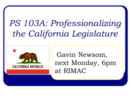 PS 103A: Professionalizing the California