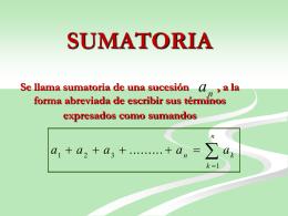 SUMATORIAS
