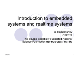 Introduction to embedded systems and realtime