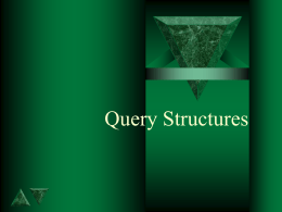 Chap3. Query Structures