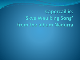 Capercaillie: 'Skye Waulking Song' from the album
