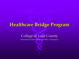 Healthcare Bridge Program