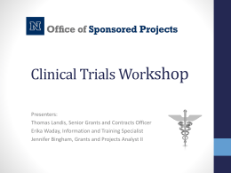 Clinical trials workshop - University of Nevada,