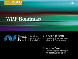 PC46 WPF Roadmap