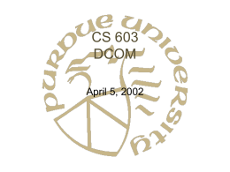 CS 603 DCOM - Purdue University