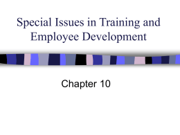 Special Issues in Training and Employee
