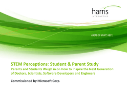STEM Perceptions: Student Parent Study