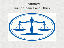 Jurisprudence and Ethics