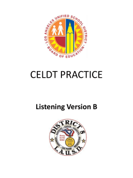 CELDT PRACTICE - Los Angeles Unified School