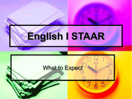 English I STAAR - Humble Independent School