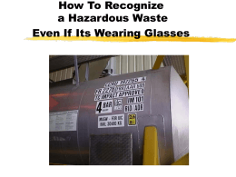 How To Recognize a Hazardous Waste Even If Its