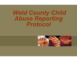 THE WELD COUNTY DEPARTMENT OF HUMAN SERVICES