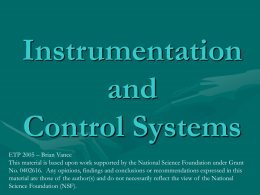 Instrumentation and Control Systems - ETP -