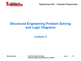Program Development and Logic Diagrams