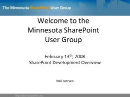 SharePoint Development Overview presentation