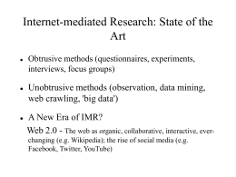 Ethics in Web-based research