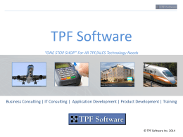 TPF Software Competencies