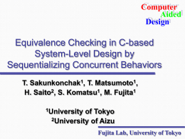 Equivalence Checking in C-based System -