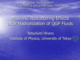 Hadronic Rescattering Effects after -