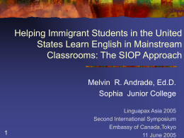 Helping Immigrant Students in the United States
