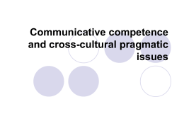 Communicative competence and cross