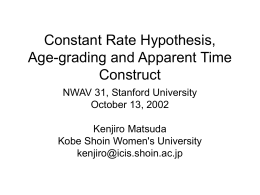 Constant Rate Hypothesis, age