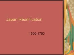 Japan Reunification - JLaFemina