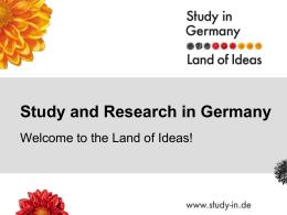 Studieren und promovieren in Deutschland