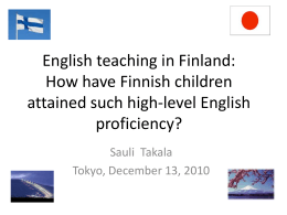 CEFR in Finland – uses and adaptations – Possible