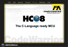 HC08: The C-Language ready MCU