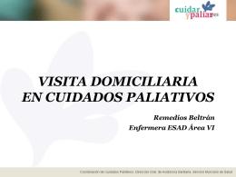 VISITA DOMICILIARIA Remedios Beltrán Enfermera