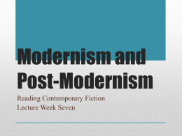 Modernism and Post
